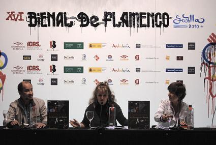Présentation officielle de Flamenco en llamas à la biennale flamenco de Séville, septembre 2010